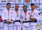 Christopher Voelk (GER), Rustam Orujov (AZE), Miklós Ungvári (HUN), Hasan Vanlioglu (TUR) - Grand Prix Samsun (2014, TUR) - © IJF Media Team, International Judo Federation