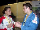 Gella Vandecaveye (BEL), Mark Huizinga (NED) - European Championships Düsseldorf (2003, GER) - © JudoInside.com, judo news, results and photos
