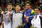 Won-Hee Lee (KOR), Vitaly Makarov (RUS), Leandro Guilheiro (BRA), Jimmy Pedro (USA) - Olympic Games Athens (2004, GRE) - © Reuters