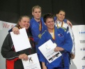 Karina Bryant (GBR), Katrin Beinroth (GER), Franziska Konitz (GER), Janelle Shepherd (AUS) - German Open Braunschweig (2008, GER) - © JudoInside.com, judo news, results and photos