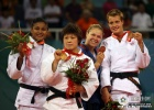 Masae Ueno (JPN), Anaisis Hernandez (CUB), Ronda Rousey (USA), Edith Bosch (NED) - Olympic Games Beijing (2008, CHN) - © IJF Media Team, International Judo Federation