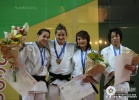 Majlinda Kelmendi (KOS), Shahar Levy (ISR), Chiho Kagaya (JPN), Tugba Zehir (TUR) - World Championships Juniors Paris (2009, FRA) - © IJF Media Team, International Judo Federation