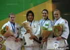 Akari Ogata (JPN), Kayla Harrison (USA), Mayra Aguiar (BRA), Luise Malzahn (GER) - World Championships Juniors Paris (2009, FRA) - © IJF Media Team, International Judo Federation