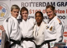 Elisabeth Willeboordse (NED), Urska Zolnir (SLO), Claudia Malzahn (GER), Anicka van Emden (NED) - Grand Prix Rotterdam (2010, NED) - © IJF Media Team, International Judo Federation