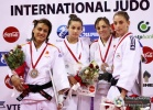 Majlinda Kelmendi (KOS), Ana Carrascosa (ESP), Kitty Bravik (NED), Laura Gómez (ESP) - Grand Prix Tunis (2010, TUN) - © IJF Media Team, International Judo Federation