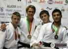 Alexander Wieczerzak (GER), Hannes Conrad (GER), Zebeda Rekhviashvili (GEO), Aslan Lappinagov (RUS) - World Championships Juniors Agadir (2010, MAR) - © IJF Media Team, International Judo Federation