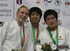 Kim Polling (NED), Natsumi Baba (JPN), Yuri Matsunobu (JPN) - World Championships Juniors Agadir (2010, MAR) - © IJF Media Team, International Judo Federation