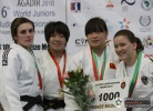 Miku Tashiro (JPN), Vlora Bedeti (SLO), Kathrin Unterwurzacher (AUT), Jialing Zheng (CHN) - World Championships Juniors Agadir (2010, MAR) - © IJF Media Team, International Judo Federation