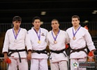 Jae-Hyung Lee (KOR), Khasan Khalmurzaev (RUS), Arpad Szakacs (SVK), Krisztian Toth (HUN) - Youth Olympic Games Singapore (2010, SIN) - © IJF Media Team, International Judo Federation