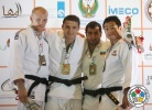 Varlam Liparteliani (GEO), Marcus Nyman (SWE), Elnur Mammadli (AZE), Dae-Nam Song (KOR) - Grand Prix Abu Dhabi (2011, UAE) - © IJF Media Team, International Judo Federation