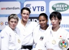 Edith Bosch (NED), Natalia Smal (UKR), Yuri Alvear (COL), Yoko Ono (JPN) - Grand Prix Amsterdam (2011, NED) - © IJF Media Team, International Judo Federation