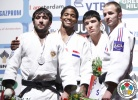 Dex Elmont (NED), Mansur Isaev (RUS), Ugo Legrand (FRA), Kiyoshi Uematsu (ESP) - Grand Prix Amsterdam (2011, NED) - © IJF Media Team, International Judo Federation