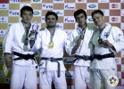 Amiran Papinashvili (GEO), Boldbaatar Chimed-Yondon (MGL), Valtteri Jokinen (FIN), Georgii Zantaraia (UKR) - Grand Prix Baku (2011, AZE) - © IJF Media Team, International Judo Federation