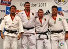 Andreas Toelzer (GER), Keiji Suzuki (JPN), Rafael Silva (BRA), Robert Zimmermann (GER) - Grand Prix Düsseldorf (2011, GER) - © IJF Media Team, International Judo Federation