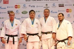 Soo-Whan Kim (KOR), Dmitry Sterkhov (RUS), Janusz Wojnarowicz (POL), Abdullo Tangriev (UZB) - IJF Grand Slam Moscow (2011, RUS) - © IJF Media Team, International Judo Federation