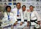 Automne Pavia (FRA), Aiko Sato (JPN), Corina Stefan (ROU), Telma Monteiro (POR) - Grand Slam Paris (2011, FRA) - © IJF Media Team, International Judo Federation