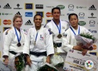 Lucie Decosse (FRA), Kerstin Teichert (GER), Edith Bosch (NED), Yoriko Kunihara (JPN) - Grand Slam Paris (2011, FRA) - © IJF Media Team, International Judo Federation