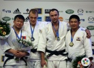 Henk Grol (NED), Tuvshinbayar Naidan (MGL), Jevgenijs Borodavko (LAT), Hee-Tae Hwang (KOR) - Grand Slam Paris (2011, FRA) - © IJF Media Team, International Judo Federation