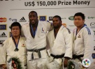 Teddy Riner (FRA), Daiki Kamikawa (JPN), Oscar Brayson (CUB), SungMin Kim (KOR) - Grand Slam Paris (2011, FRA) - © IJF Media Team, International Judo Federation