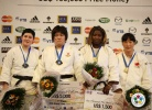 Megumi Tachimoto (JPN), Lucija Polavder (SLO), Huanyuan Liu (CHN), Idalys Ortiz (CUB) - Grand Slam Paris (2011, FRA) - © IJF Media Team, International Judo Federation