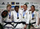 Audrey Tcheumeo (FRA), Lucie Louette (FRA), Mayra Aguiar (BRA), Abigel Joo (HUN) - Grand Slam Paris (2011, FRA) - © IJF Media Team, International Judo Federation