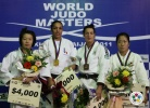 Lucie Decosse (FRA), Ye-Sul Hwang (KOR), Edith Bosch (NED), Yoriko Kunihara (JPN) - IJF World Masters Baku (2011, AZE) - © IJF Media Team, International Judo Federation