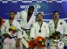 Teddy Riner (FRA), Islam El Shehaby (EGY), Keiji Suzuki (JPN), Andreas Toelzer (GER) - IJF World Masters Baku (2011, AZE) - © IJF Media Team, International Judo Federation