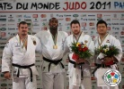 Teddy Riner (FRA), Andreas Toelzer (GER), Alexander Mikhailin (RUS), SungMin Kim (KOR) - World Championships Paris (2011, FRA) - © IJF Media Team, International Judo Federation