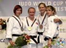Gemma Howell (GBR), Nina Milosevic (SLO), Esther Stam (NED), Marit De Gier (NED) - World Cup Bucharest (2012, ROU) - © IJF Gabriela Sabau, International Judo Federation