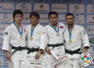 Mirzahid Farmonov (UZB), Tomofumi Takajo (JPN), Kamal Khan-Magomedov (RUS), Miyaragchaa Sanjaasuren (MGL) - IJF Grand Slam Moscow (2012, RUS) - © IJF Media Team, International Judo Federation