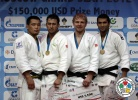 Ramziddin Sayidov (UZB), Temuulen Battulga (MGL), Ramadan Darwish (EGY), Sergei Samoilovich (RUS) - IJF Grand Slam Moscow (2012, RUS) - © IJF Media Team, International Judo Federation