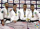 Victor Penalber (BRA), Travis Stevens (USA), Maxim Buga (RUS), Felipe Costa (BRA) - IJF Grand Slam Rio de Janeiro (2012, BRA) - © IJF Media Team, International Judo Federation