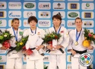 Tomoko Fukumi (JPN), Sarah Menezes (BRA), Alina Dumitru (ROU), Urantsetseg Munkhbat (MGL) - Grand Slam Paris (2012, FRA) - © IJF Media Team, International Judo Federation