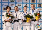 Telma Monteiro (POR), Aiko Sato (JPN), Marti Malloy (USA), Automne Pavia (FRA) - Grand Slam Paris (2012, FRA) - © IJF Media Team, International Judo Federation