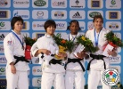 Yuka Nishida (JPN), Bundmaa Munkhbaatar (MGL), Yanet Bermoy Acosta (CUB), Ana Carrascosa (ESP) - Grand Slam Paris (2012, FRA) - © IJF Media Team, International Judo Federation