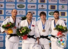 Nyam-Ochir Sainjargal (MGL), Christopher Voelk (GER), Gilles Bonhomme (FRA), Zelimkhan Ozdoev (RUS) - Grand Slam Paris (2012, FRA) - © IJF Media Team, International Judo Federation