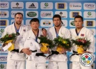Tuvshinbayar Naidan (MGL), Jevgenijs Borodavko (LAT), Temuulen Battulga (MGL), Ramziddin Sayidov (UZB) - Grand Slam Paris (2012, FRA) - © IJF Media Team, International Judo Federation