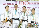 Lucie Decosse (FRA), Yoriko Kunihara (JPN), Edith Bosch (NED), Haruka Tachimoto (JPN) - IJF World Masters Almaty (2012, KAZ) - © IJF Media Team, International Judo Federation