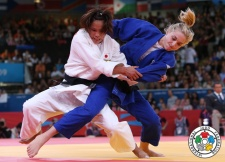Automne Pavia (FRA), Kaori Matsumoto (JPN) - Olympic Games London (2012, GBR) - © IJF Media Team, International Judo Federation