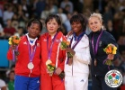 Kum Ae An (PRK), Yanet Bermoy Acosta (CUB), Priscilla Gneto (FRA), Rosalba Forciniti (ITA) - Olympic Games London (2012, GBR) - © IJF Media Team, International Judo Federation