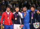 Asley Gonzalez (CUB), Dae-Nam Song (KOR), Ilias Iliadis (GRE), Masashi Nishiyama (JPN) - Olympic Games London (2012, GBR) - © IJF Media Team, International Judo Federation