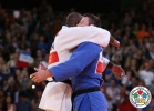 Teddy Riner (FRA), Alexander Mikhailin (RUS),  RESPECT (IJF) - Olympic Games London (2012, GBR) - © IJF Media Team, International Judo Federation