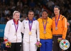 Lucie Decosse (FRA), Edith Bosch (NED), Kerstin Teichert (GER), Yuri Alvear (COL) - Olympic Games London (2012, GBR) - © IJF Media Team, International Judo Federation