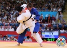 Karina Bryant (GBR), Iryna Kindzerska (AZE) - Olympic Games London (2012, GBR) - © IJF Media Team, International Judo Federation