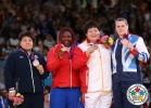 Idalys Ortiz (CUB), Mika Sugimoto (JPN), Wen Tong (CHN), Karina Bryant (GBR) - Olympic Games London (2012, GBR) - © IJF Media Team, International Judo Federation