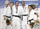 Murat Gasiev (RUS), Aaron Hildebrand (GER), Walter Facente (ITA), Krisztian Toth (HUN) - European Open Bucharest (2013, ROU) - © IJF Media Team, International Judo Federation