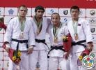 Khasan Khalmurzaev (RUS), Aliaksandr Stsiashenka (BLR), Shukhratjon Arslanov (UZB), Uuganbaatar Otgonbaatar (MGL) - Grand Prix Almaty (2013, KAZ) - © IJF Media Team, International Judo Federation