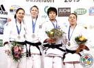 Kim Polling (NED), Laura Vargas Koch (GER), Seong-Yeon Kim (KOR), Juliane Robra (SUI) - Grand Prix Düsseldorf (2013, GER) - © IJF Media Team, International Judo Federation