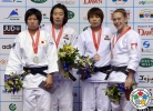 Ye-Sul Hwang (KOR), Tomoe Ueno (JPN), Sally Conway (GBR), Seong-Yeon Kim (KOR) - Grand Prix Jeju (2013, KOR) - © IJF Media Team, International Judo Federation