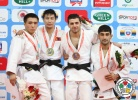 Amartuvshin Dashdavaa (MGL), Yeldos Smetov (KAZ), Robert Mshvidobadze (RUS), Vugar Shirinli (AZE) - Grand Prix Samsun (2013, TUR) - © IJF Media Team, International Judo Federation